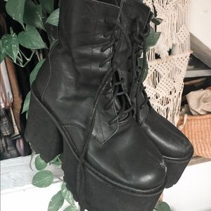 UNIF Shoes - Unif leather platforms